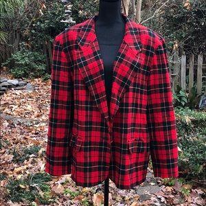 Pendleton Plus Size Plaid Wool Jacket 24W